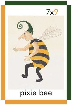 A card showing a pixie bee