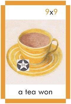 A card showing a winning cup of tea for a tea won